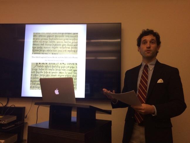 Eric Weiskott at Stanford